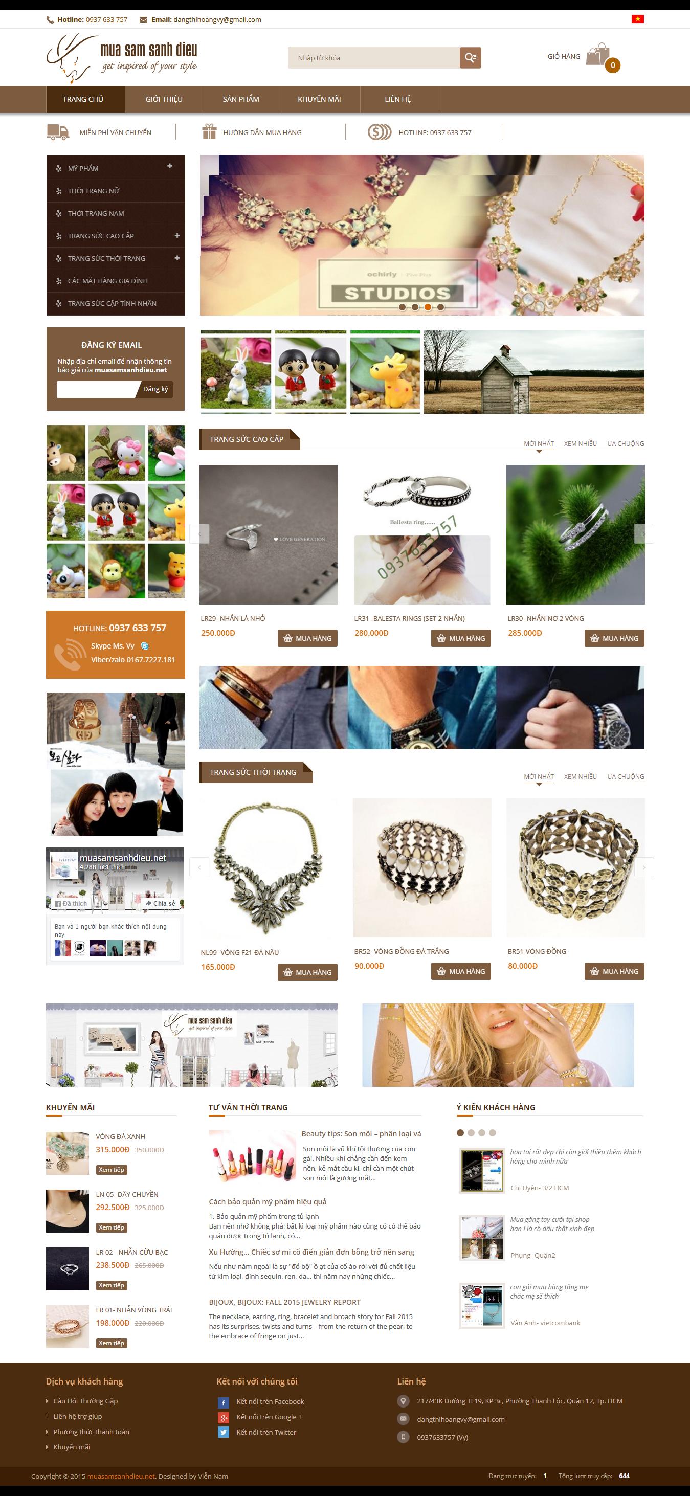 thiết kế web thời trang, thiết kế web bán hàng, thiết kế web, thời trang sành điệu, mua sấm sành điệu