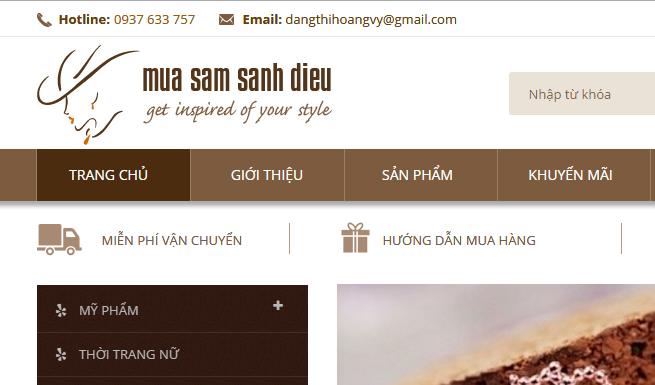 thiết kế web thời trang, thiet ke web thoi trang, mua sam sanh dieu, mua sấm sành điệu, thiết kế web bán quần áo